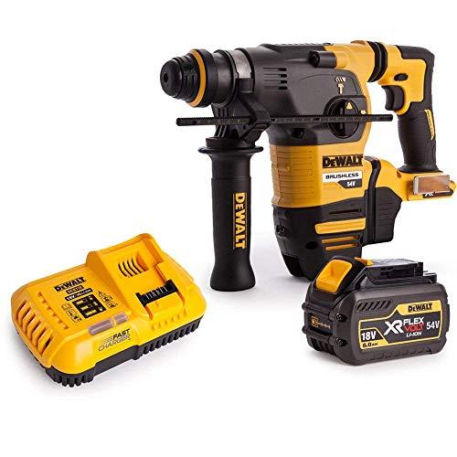 Dewalt DCH333N 54V XR Brushless Flexvolt 3 Mode SDS+ Hammer Drill with 1 x 6Ah Battery & Charger