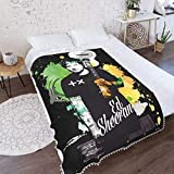E-D S-Heeran Flannel Pompom Edge Gaming Anime Air Conditioning Sofa Blanket Durable Throw Blanket Suitable All Season The Bed Living Room 40'X30'