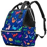 Bolso cambiador de momia multifunción portátil mochila impermeable pañal bolsa de viaje bolsas de pañales bolsa doctor mochila escolar - dibujos animados gatos divertidos