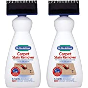 Dr. Beckmann 2 X Carpet Stain Remover with Cleaning applicator/brush-650ml, White, 650ml