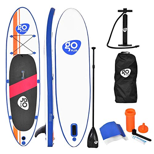 COSTWAY SUP Board 300 x 75 x 15cm, Stand up Board aufblasbar, Stand up Paddling Board, Stand up Paddel Board, Paddelboard, inkl. Rucksack, Pumpe, Reparaturset, Paddel und Center Finne