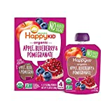 Happy Kid Organic Superfoods Twist Apple Blueberry Pomegranate, Baby Toddler Kid Snack, Resealable,...