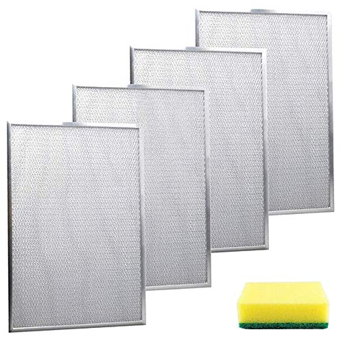 BPS1FA36 Range Hood Filter 11-3/4 X 17-1/4 X 3/8 By Wadoy, 4 Pack Aluminum...
