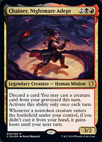 Magic: The Gathering - Chainer, Nightmare Adept - Foil - Commander 2019