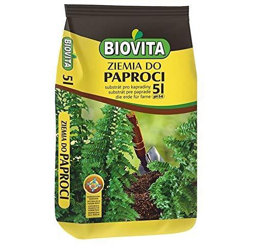 BIOVITA Sustrato especial de Farnboden 5 l - Sustrato multicomponente para plantas, listo para usar, tierra de origen natural
