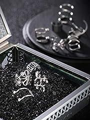 8 Pairs Stainless Steel Ear Cuff Non Piercing Clip on Cartilage Earrings for Men Women (Steel C + Flower Shape Style) #1