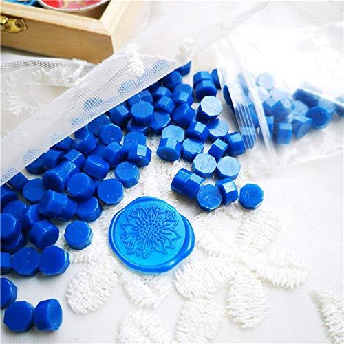 BTKNOO Vintage Siegelwachs Tablette Pille Perlen Granulat/Korn/Streifen Stifte zum Stempeln Wachssiegel altes Siegelwachs 30g, 100~105 Stück in Tasche, Farbe 35