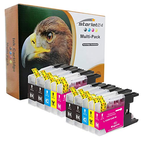 10x D&C Druckerpatronen kompatibel zu Brother LC-1220 LC-1240 DCP-J525 W MFC-J430 W MFC-J5910 DW MFC-J625 DW MFC-J6510 W MFC-J6710 DW MFC-J6910 DW