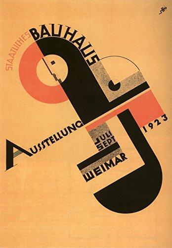 Spiffing Prints Bauhaus Exhibition - Small - Matte - Brown Frame