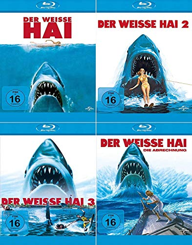 Der weisse Hai 1 + 2 + 3 + 4 Jaws Quadrilogy [4er Blu-ray-Set]