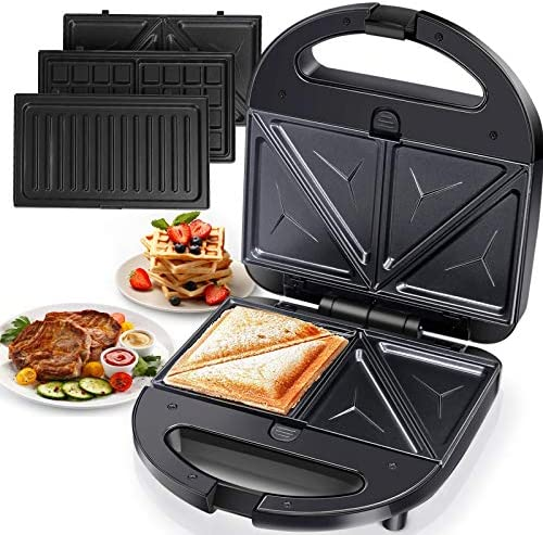 3 in 1 Grilled Cheese Sandwich Maker Waffle Iron with Removable Plates Aigostar product image