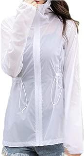 Mogogo Womens Lightweight Sunscreen Outdoor Coat Hooded College Jacket