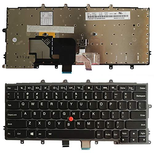 WANGZHEXIA - Tastiera di ricambio per computer portatile, versione USA, inglese, con puntini per Lenovo IBM Thinkpad X240/X240S/X250/X260/X230S/X270