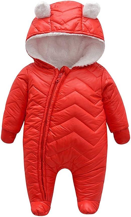 ACMEDE Combinaison de Neige B/éb/é Hiver Barboteuses /à Capuche Coton Manteau Doudoune Jumpsuit