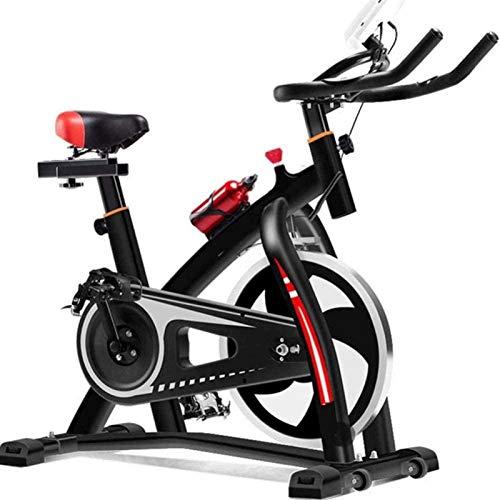 ZHENG Bicicletas Estáticas Altura de Asiento de Entrenamiento de Cardio de Resistencia con Reloj electrónico y Soporte para teléfonos móviles