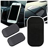 Anti-Slip Mats for Car Dashboard Magic Non-Slip Sticky Adhesive Pads for Cell Phone Keys Sunglass Car Ornaments Silicone Gel Car Anti-Slip Pads (5.5in x 3.3in) (Black)