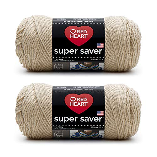 Bulk Buy: Red Heart Super Saver (2er-Pack) 7 oz each skein Lederfarben