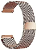 chenghuax Pulsera de Acero Inoxidable de Las Bandas 16 18 20 22 para la Banda de Reloj de 24 mm Starp Hebilla Cierre de Cierre de la Correa (Color : 24mm, Size : Rose Gold)