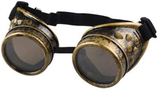 DYHXMJ Heavy Metal Estilo Vintage Steampunk Gafas de Estilo gótico Gafas de Soldador Soldadura Punk Gafas de protección Laboral Gafas