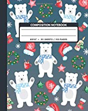 Composition Notebook: Polar Bear - Animals Exercise Book Journal , Back To School Gifts For Teens Girls Boys Kids Friends Students 8x10