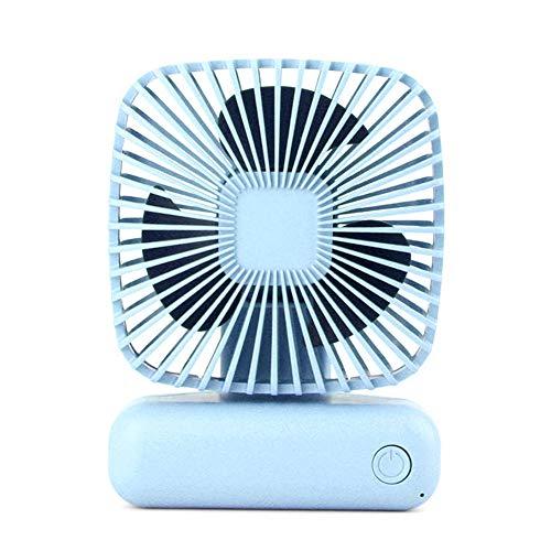 Chutoral Mini-USB-ventilator, handventilator, elektrische USB-ventilator, draagbare miniventilator voor campingtenten, loopbanden in de buitenlucht slaapkamer blauw
