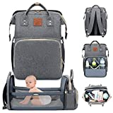 Everson Babies - Multifunctional Diaper Bag Backpack - Waterproof Nappy Bag with Changing Pad for Mom and Dad - Large Capacity and Stylish Organizer for Baby Care