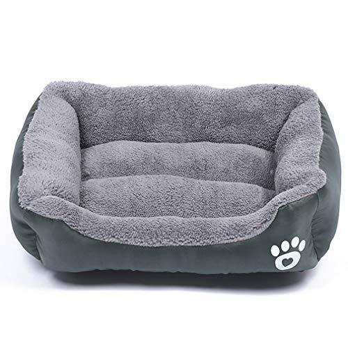 YLWL Huellas de Felpa Nido para Mascotas Perrera para Mascotas Gato Nido para Perros cálido Suave cojín de Cama para Dormir para Mascotas casa para Perros Perrera (Gris M 55 * 45 cm)