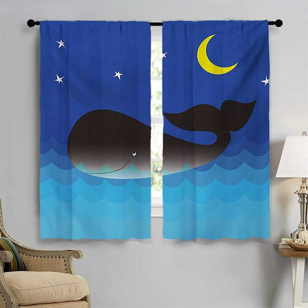 Whale Bedroom Curtains Lovely in The Moon and S with mart 4 years warranty Ocean