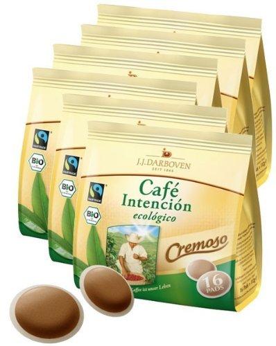 Darboven - Café Intención BIO und Fairtrade Kaffeepads ecológico Cremoso 6 x 16er