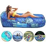 Aufblasbares Sofa, Luftsofa Outdoor Lazy Carry Tragbarer wasserdichter Schlafsack Ultraleichtes Bett...