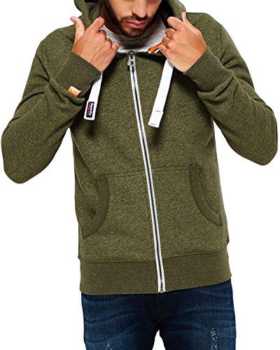 Superdry Herren M20002APF5 Pullover, Grün (Fern Green Grit), (Herstellergröße: Small)