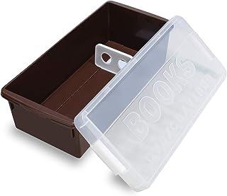 伊勢藤 収納ボックス ブック&メディアケース チョコブラウン(普通コミック約29冊収納) I-540