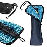 TAIKUU 折り畳み傘カバー 超吸水 傘ケース 吸水 速乾 多用途 携帯便利 梅雨対策 折りたたみ傘袋