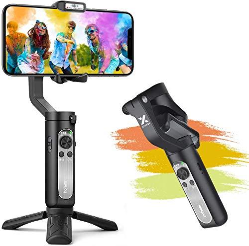 Smartphone Gimbal, Hohem Gimbal Stabilisator mit EIN-klick-Videoproduktion, Sportmodus und Gesichtsverfolgungsfunktion, Gimbal für iPhone 12/11/XR/XS, Samsung, Huawei P40, Mate30 pro usw.