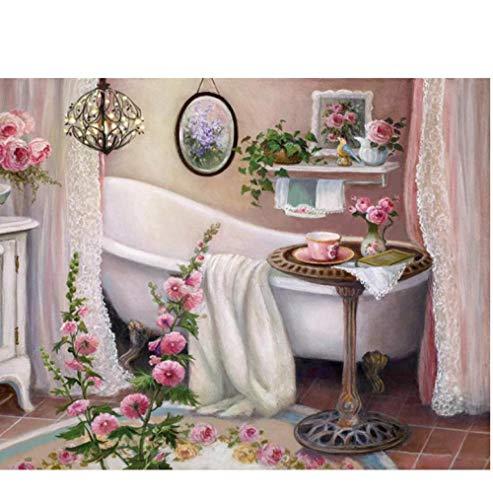 5D Bricolaje Kit De Pintura Diamante Punto De Cruz Paisaje Bordado De Diamantes Baño con Cuentas Costura Handicraft-30X40cm