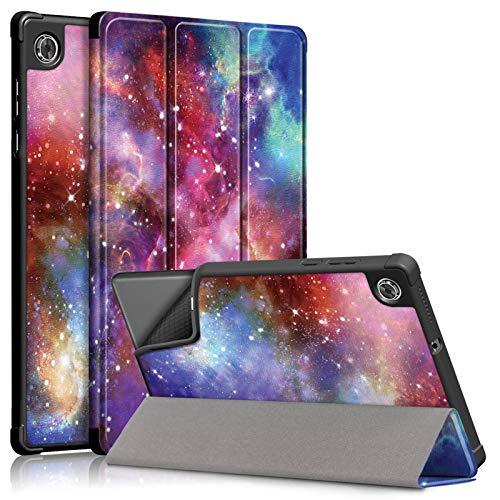 A-BEAUTY Funda para Lenovo Tab M10 HD (2ª generación) 10.1' 2020 (TB-X306X / TB-X306F), con triple función atril TPU [Ultra delgada] [Auto Sleep/Wake], Láctea Way