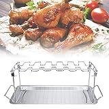 aunmas teglia da forno per esterni pollo tacchino tostatura campeggio picnic forno antiaderente barbecue in acciaio inox griglia per stufa lavabile in lavastoviglie rack per cucina