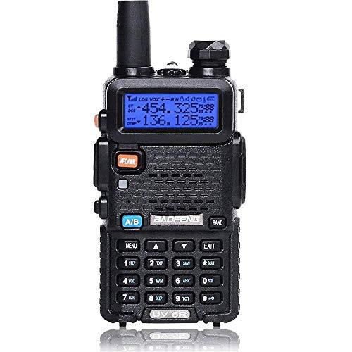 BaoFeng Talkie Walkie VHF UHF FM Radio avec Double Bande Radio, Noir (1 pc)