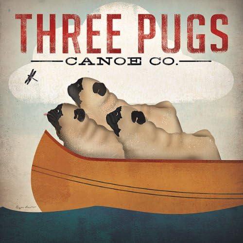 Last Quarter Pug Moon Set of three Pug Phases of the Moon Prints Pug Moon Phases Print Set of three Pug Lover/'s First Quarter Pug Moon