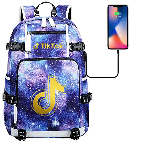 Travel Backpack Youth Leisure Backpack Laptop Tablet Computer USB Charging Port Camping Backpack 45 cm x 30 cm x 15 cm. Type H.