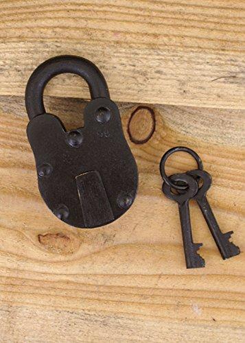 Mittleres Vorhängeschloss mit 2 Schlüsseln