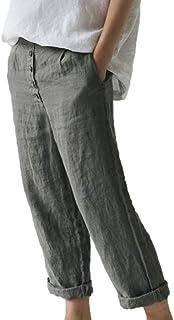 cercare nuovo stile salvare Amazon.it: pantaloni lino donna