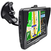 Sat Nav for Car, 7 Inch GPS Navigation Includes Postcodes, Speed Camera Alerts, POI Lane Assistance, Pre-lnstalled UK and EU Maps Lifetime Free Updates Car Satellite Navigator with Sunshade