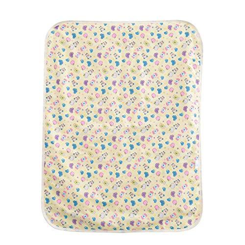 23.6 × 31.5in Algodón Impermeable Recién nacido Cambiador de colchón Portátil de dibujos animados Niños que cambian el pañal para el cochecito de bebé, la cuna o cuando salga a llevar(Yellow candy)