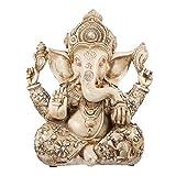YARNOW Resina Elefante Hindú Dios Estatuilla Ganesha Elefante Dios Estatua Buda Elefante Escultura Hinduismo Elefante Mesa Ornamento para Casa Coche Oficina Escritorio Decoración