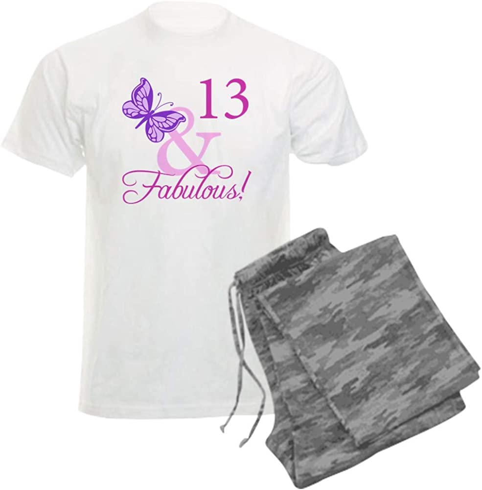 Ranking TOP20 CafePress Max 44% OFF Fabulous 13Th Birthday for Set Pajama Girls Men's