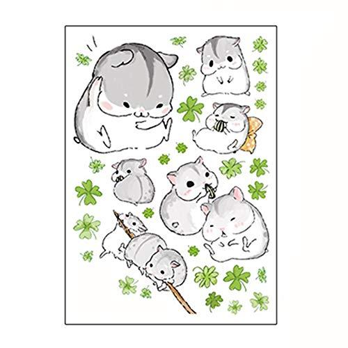 Kreativer Wandaufkleber, wasserdicht, niedlich, kleiner Hamster, selbstklebend, Dekoration für Zuhause