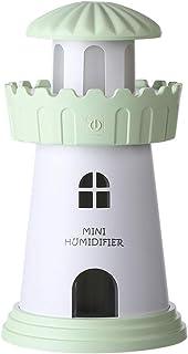 Manyao ライトハウス加湿器キットミニアロマエッセンシャルオイルディフューザミストメーカー (緑)