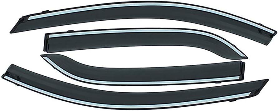Allyard Für Eclipse Cross 2018 2019 Auto Seitenscheibe Visiere Deflectors Window Visier Regen Wind Außenkantenschutz Windabweiser Regenabweiser Dekoration 4stück Auto