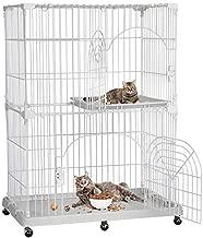 Yaheetech 2-Tier Large Cat Cage Kitten Crate Pet Enclosure